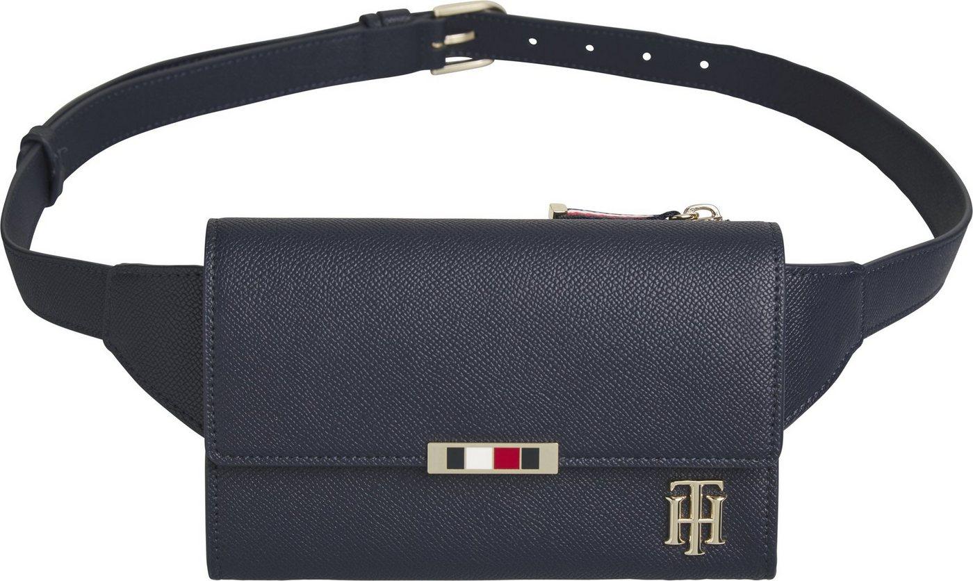 tommy hilfiger -  Bauchtasche »SAFFIANO BELT BAG«, mit goldfarbenen Details