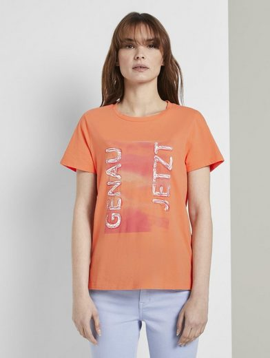 TOM TAILOR T-Shirt »Nena & Larissa: T-Shirt mit Schrift-Print«