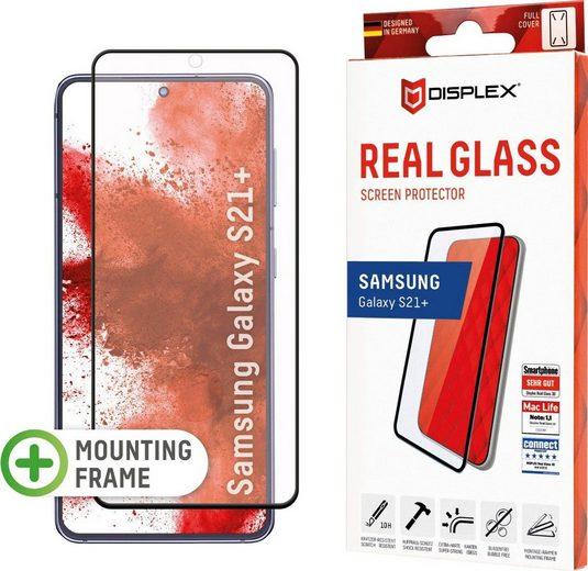 Displex »DISPLEX Real Glass Panzerglas für Samsung Galaxy S21+ 5G (6,7), 10H Tempered Glass, mit Montagerahmen, Full Cover« für Samsung Galaxy S21+, Displayschutzfolie