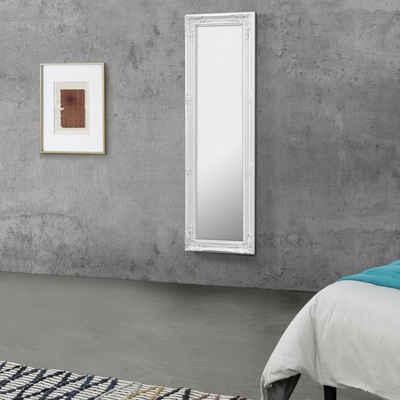 en.casa Wandspiegel, »Livorno« Ganzkörperspiegel 132x42cm Antik Spiegel weiß