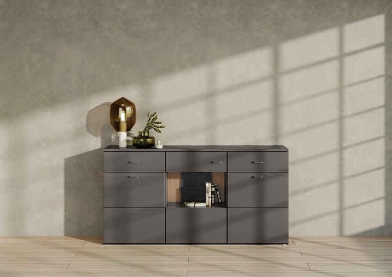 set one by Musterring Sideboard »TACOMA«, Typ 53, Breite 180 cm, mit getönter Glastür