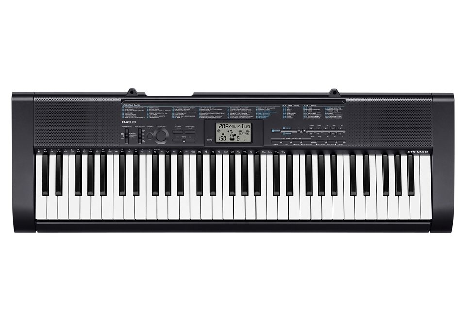 Casio® Keyboard Set, »CTK 1200«, inkl. Netzteil, Exklusiv im Versand
