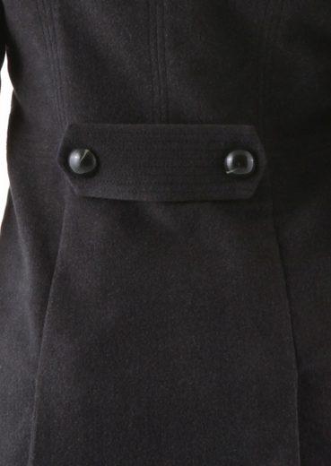 Aniston Langjacke, mit Schulterklappen und Ärmelriegeln im Military-Style