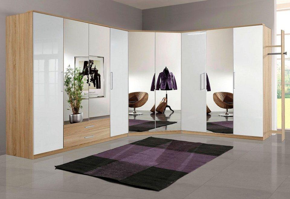Eckkleiderschrank weiß mit spiegel  Wimex Eckkleiderschrank