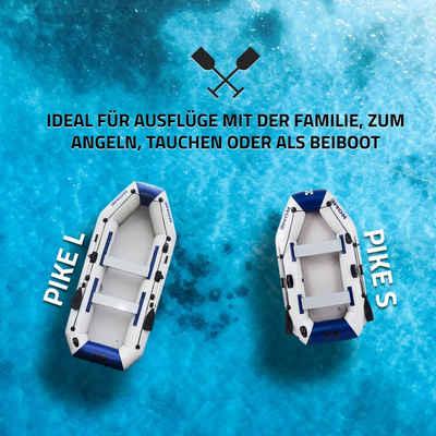 HOME DELUXE Schlauchboot »Pike Sport«, (Set, -, Motor, zwei Paddel, Reparatur Kit, Transporttasche und Luftpumpe), PVC, 3 lagig Konstruktion, extra stark