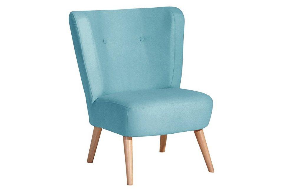 max winzer stuhlsessel mit knopfheftung lana mit holzbeinen online kaufen otto. Black Bedroom Furniture Sets. Home Design Ideas