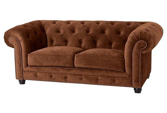 Max Winzer® Chesterfield-Sofa »Old England«, mit edler Knopfheftung, 2-Sitzer oder 2,5-Sitzer