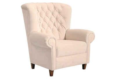 Max Winzer® Chesterfield-Sessel »Victoria«, mit edler Knopfheftung