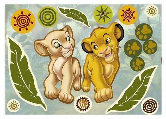 Komar Wandsticker »Wandsticker Disney Simba and Nala, 17-tlg.«