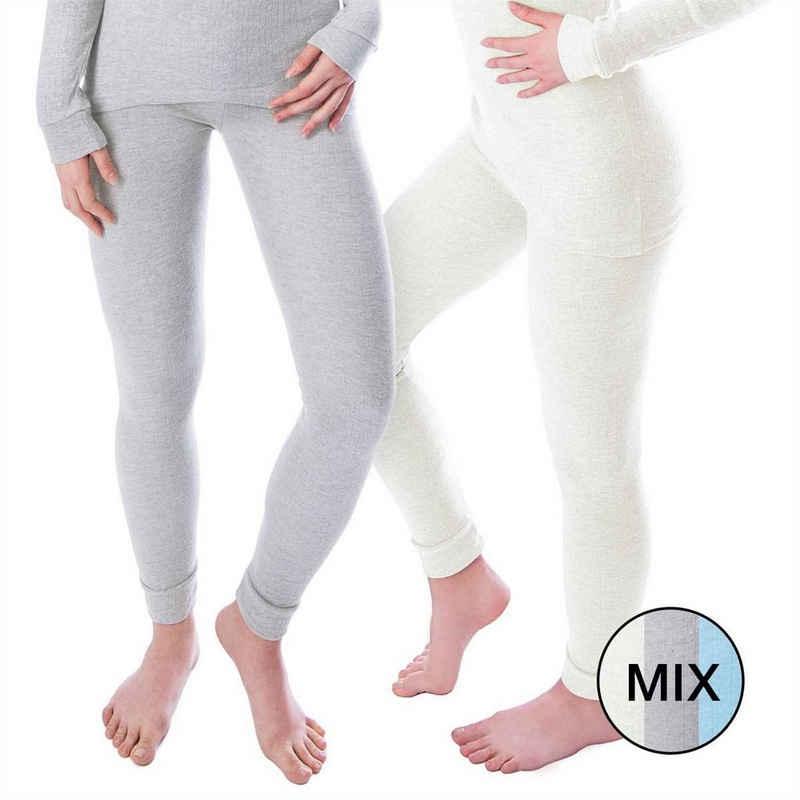 Black Snake Thermounterhose »cozy« (2 Stück) Damen lange Unterhosen mit Innenfleece 2er-Pack