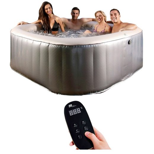 mSpa Whirlpool »Elite Bliss E-BL06«, (Set), 7-tlg., ØxH: 185x68 cm, mit Hydro-Massagedüsen