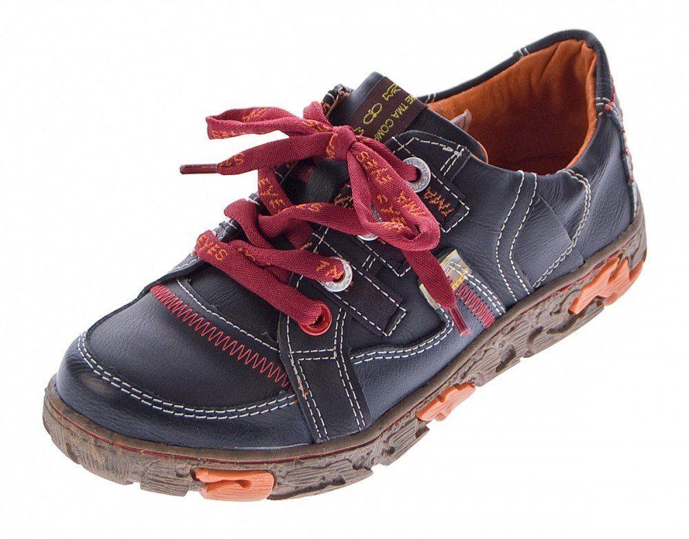 TMA »Damen Leder Schuhe TMA 4181 Sneaker Halbschuhe« Schnürschuh Ungefüttert, Used Look online kaufen | OTTO