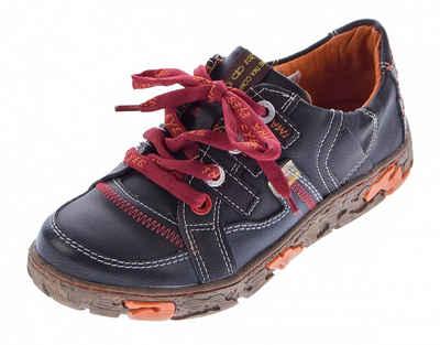 TMA »Damen Leder Schuhe TMA 4181 Sneaker Halbschuhe« Schnürschuh Ungefüttert, Used Look