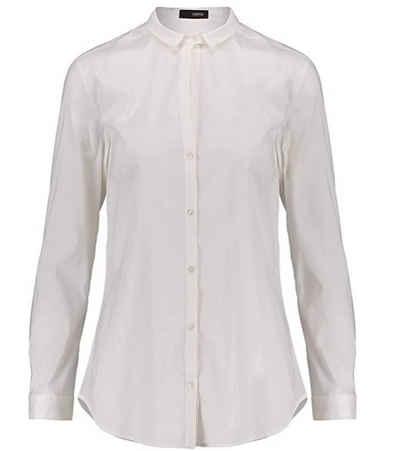 Cinque Hemdbluse »CINQUE Hemd-Bluse schicke Damen Business-Bluse mit schmalem Kragen Langarm-Bluse Weiß«