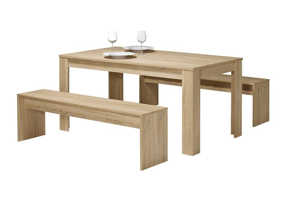 Tischgruppe (3tlg.), Maja in eichefarben-sägerau