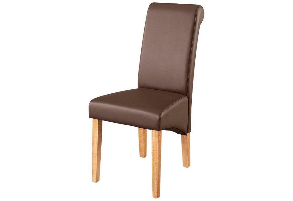 st hle home affaire rito wahlweise mit echtleder oder kunstlederbezug 2er 4er 6er set. Black Bedroom Furniture Sets. Home Design Ideas