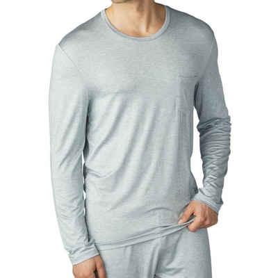 Mey Pyjamaoberteil »Club Jefferson« Loungewear - Shirt langarm - Legere Passform, Langarm mit Rundhalsausschnitt, Mit Brusttasche