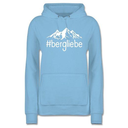 Shirtracer Hoodie »Bergliebe - weiß - Damen Premium Kapuzenpullover«