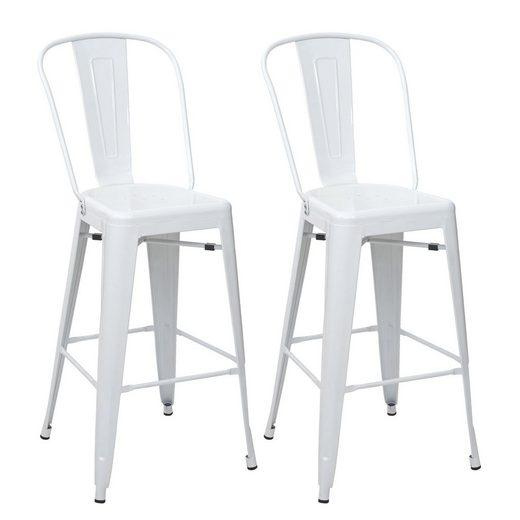 MCW Barhocker »MCW-A73-2-B« (Set, 2er), Fußstütze für bequemeres Sitzen, Bodenschonende Gummifüße, Querstreben für zusätzliche Stabilität