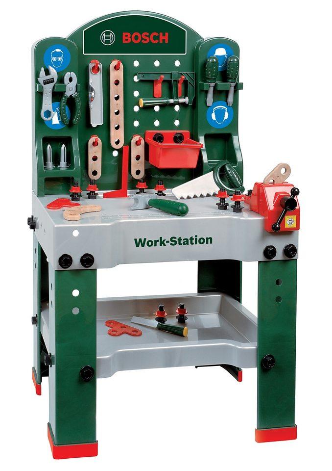 Klein Werkbank für Kinder inklusive Zubehör »BOSCH-Workstation« (43tlg.)
