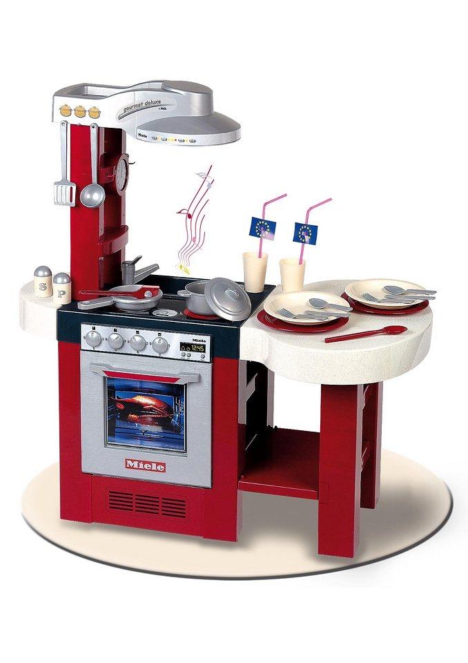 Klein Spielküche mit Funktion und Zubehör »MIELE Gourmet Deluxe« in rot