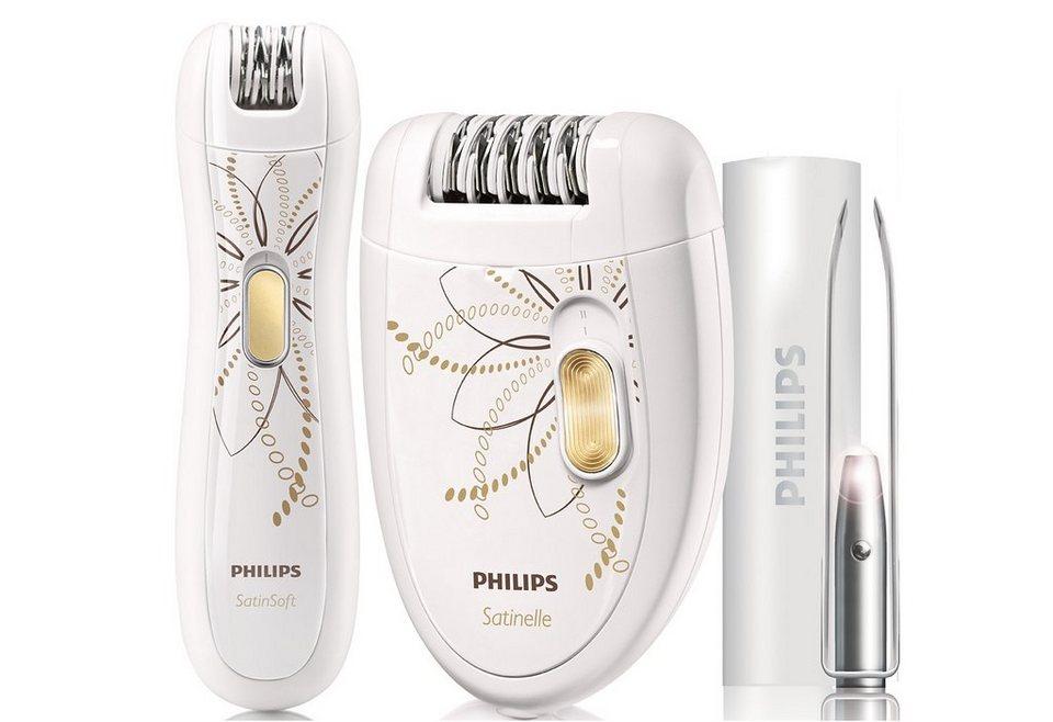 Philips Epilier-Set »Satinelle HP 6540/00« in weiß/gold