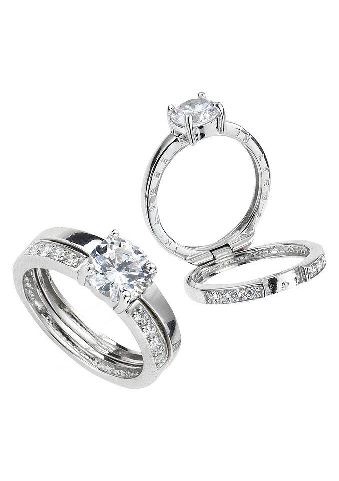 firetti Ring »IN LIEBE« in silberfarben