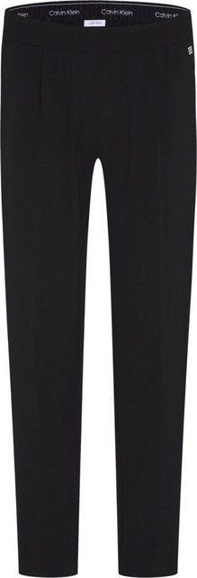 Hosen - Calvin Klein Jerseyhose »CROP ELASTIC WAISTBAND CIG PAT« mit Calvin Klein Logo Tape innen ›  - Onlineshop OTTO