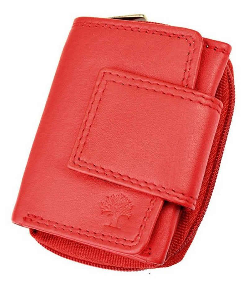 Goodman Design Mini Geldbörse »Kleine Damen Geldbörse Echt Leder«, Maße: 9 cm Breit x 7 cm Hoch x 3 cm Tief