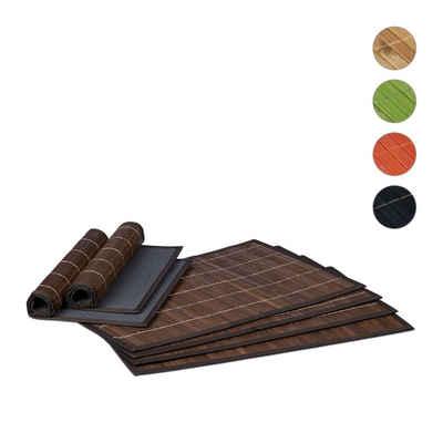 Platzset, »Tischset 6 teilig«, relaxdays