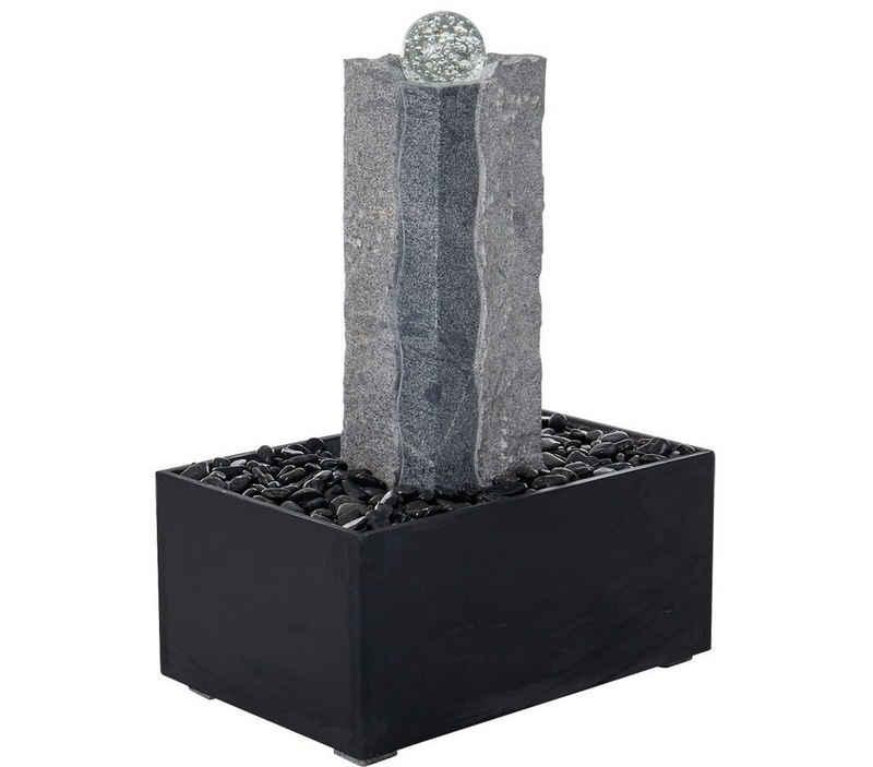 Dehner Gartenbrunnen »Beata inkl. Beleuchtung, 68 x 45 x 85 cm, Granit«