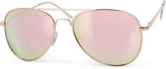 styleBREAKER Sonnenbrille »Verspiegelte Piloten Sonnenbrille« Verspiegelt