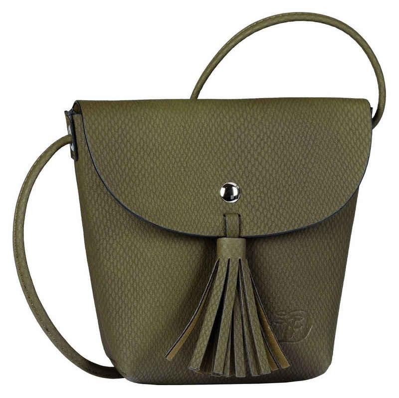 TOM TAILOR Denim Mini Bag »IDA SNAKE«, mit Quastenvezierung