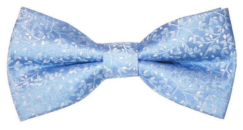 Paul Malone Fliege »Herren Schleife modern elegant festlich geblümt« Fliege-V2133 (mit Karton), hellblau blau