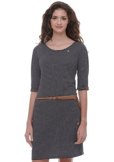 Ragwear Jerseykleid »TANYA« (2-tlg., mit abnehmbarem Gürtel) in sportlichem Streifen-Look