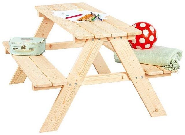 Sitzmöbel - Pinolino® Kindersitzgruppe »Nicki«, Picknicktisch, BxHxT 90x79x50 cm  - Onlineshop OTTO