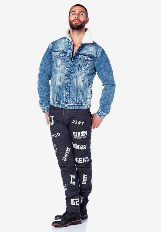cipo & baxx -  Bequeme Jeans mit stylishen Schriftzügen