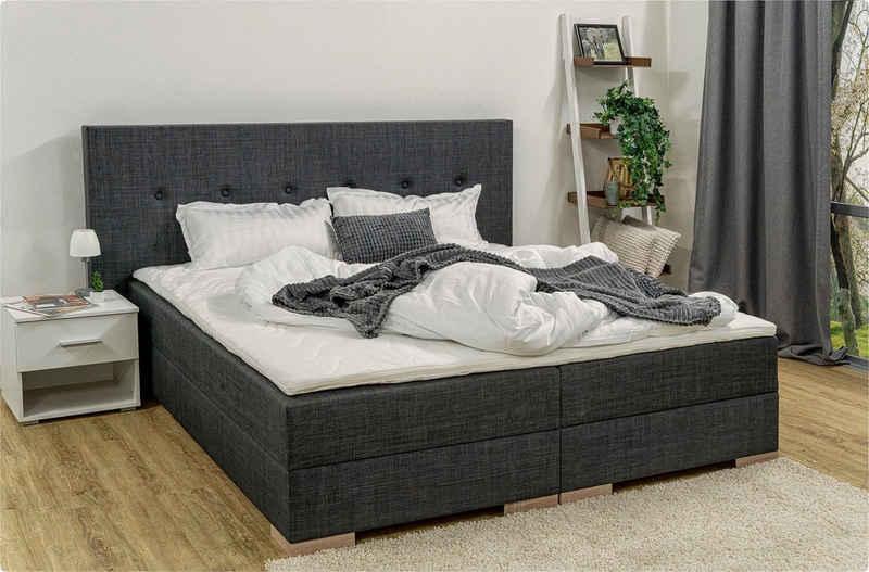Breckle Boxspringbett, inkl. Komfortschaum-Topper und Bettkasten mit Gasdruckfeder