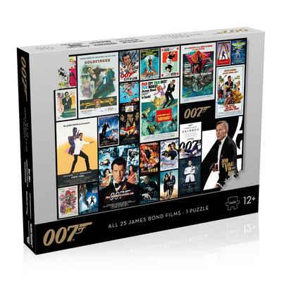 Winning Moves Steckpuzzle »Puzzle - James Bond Movie Poster 1000 Teile - all 25 Bonds«, 1000 Puzzleteile