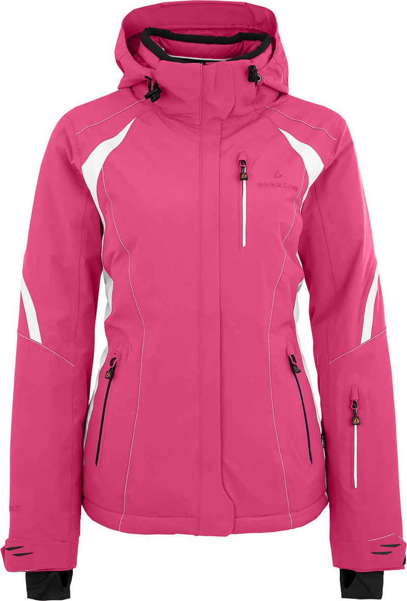 Bergson Skijacke »SNOWTASTIC« Damen Skijacke, wattiert, 20000mm Wassersäule, Normalgrößen, pink