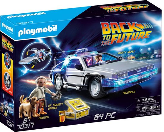 Playmobil® Konstruktions-Spielset »Back to the Future DeLorean (70317),Playmobil Back to the Future«
