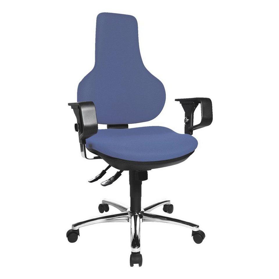 Topstar Bürostuhl »Ergo Point SY Deluxe« mit Armlehnen in blau