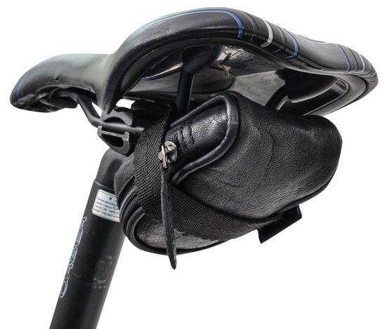 Gusti Leder Satteltasche »Udo B.«, Schlauchtasche Fahrradtasche für Werkzeug Ledertasche Vintage