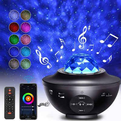 Rosnek LED Nachtlicht »LED Sternenhimmel Lampe,Smart Wifi,Bluetooth,mit Fernbedienung,Geschenke für Kinder«, LED-Projektorlicht