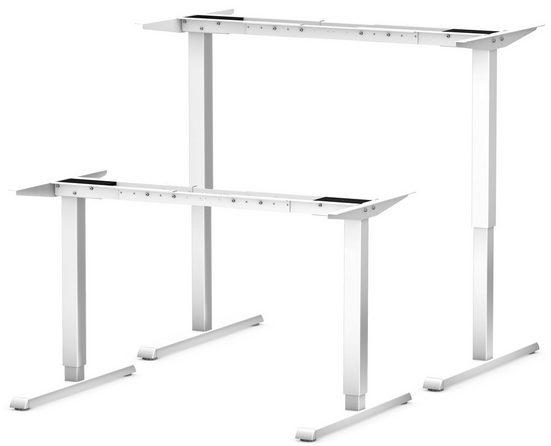 bümö Schreibtisch »OM-ASF300«, Schreibtischgestell DIY elektrisch höhenverstellbar - Farbe: Weiß