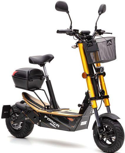 Forca E-Scooter »Bossman 1500 Safety 45 km/h (inkl. Blinker + Gepcäck-Case)«, 1500 W, 45 km/h
