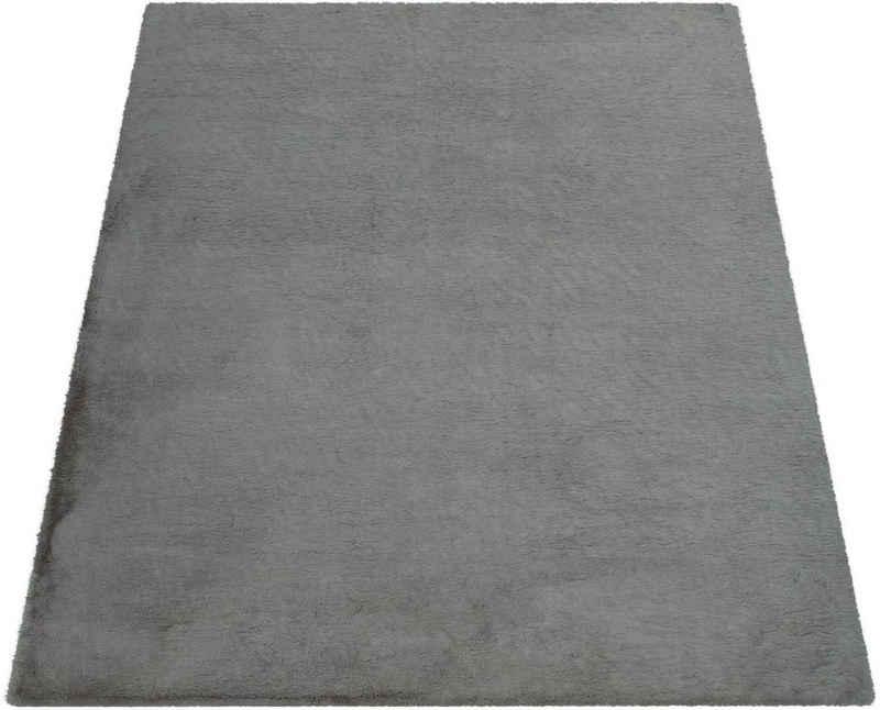 Teppich »Soft 380«, Paco Home, rechteckig, Höhe 22 mm, Kuschelteppich - besonders weich, Uni-Farben, Wohnzimmer