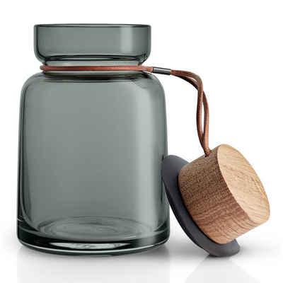 Eva Solo Vorratsglas »Silhouette Rauchglas/Holz/Silikon/Leder 0.7 L«, Glas, (1-tlg)