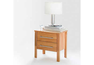 Home affaire Nachtkonsole »Modesty«, aus massivem Kernbuchen Holz, mit 2 Schubladen, Breite 45 cm