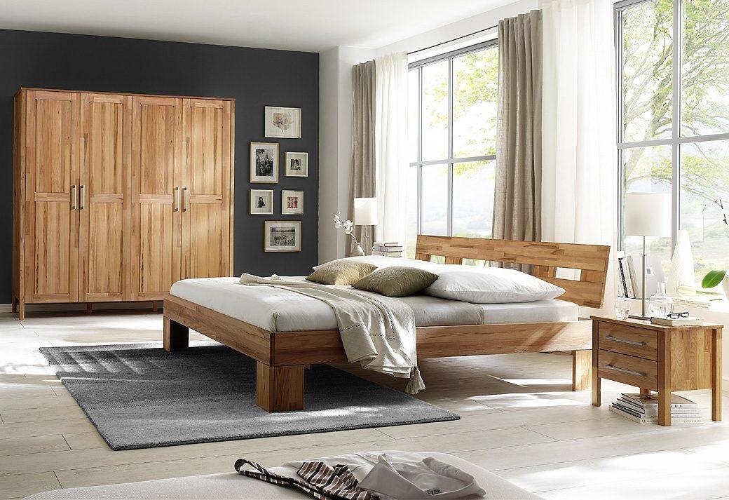 Home affaire, Schlafzimmer-Set (4-tlg.), »Modesty I« mit 4-türigem Schrank, wahlweise mit Spiegel